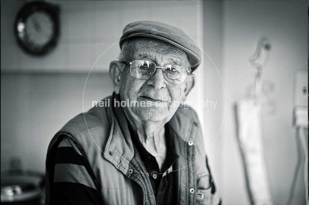 Wilberfoss, Joe Hugill, 82, pictured in his farmhouse kitchen, he has lived in the same farm house all his life