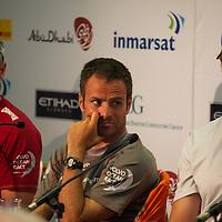 13.01.2012, Abu Dhabi. Volvo Ocean Race, skippers press conference, frank cammas skipper of groupama sailing team, 2ns place in abu dhabi in port race