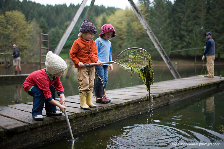Fishing for fish and salamanders at hornings hideout near for Kids fishing nets