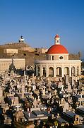 Old San Juan, Puerto Rico: San Juan cemetery, El Morro fortress and lighthouse, San Juan National Historic Site.