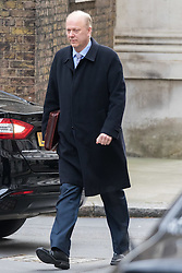 Downing Street, London, March 8th 2016. Leader of the House of Commons Chris Grayling arrives for the weekly UK cabinet meeting at Downing Street. &copy;Paul Davey<br /> FOR LICENCING CONTACT: Paul Davey +44 (0) 7966 016 296 paul@pauldaveycreative.co.uk