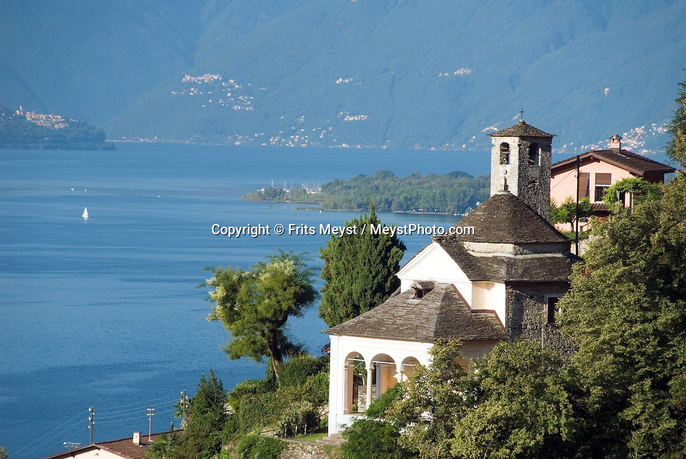 Locarno, Ticino, Switzerland, August 2009. Churches in Locarno on Lake Lago Maggiore.  Ticino is the subtropical canton of switzerland where Italian is the first language. Photo by Frits Meyst/Adventure4ever.com