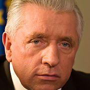 Andrzej Lepper chief of Samoobrona party, former vice prime minister Poland