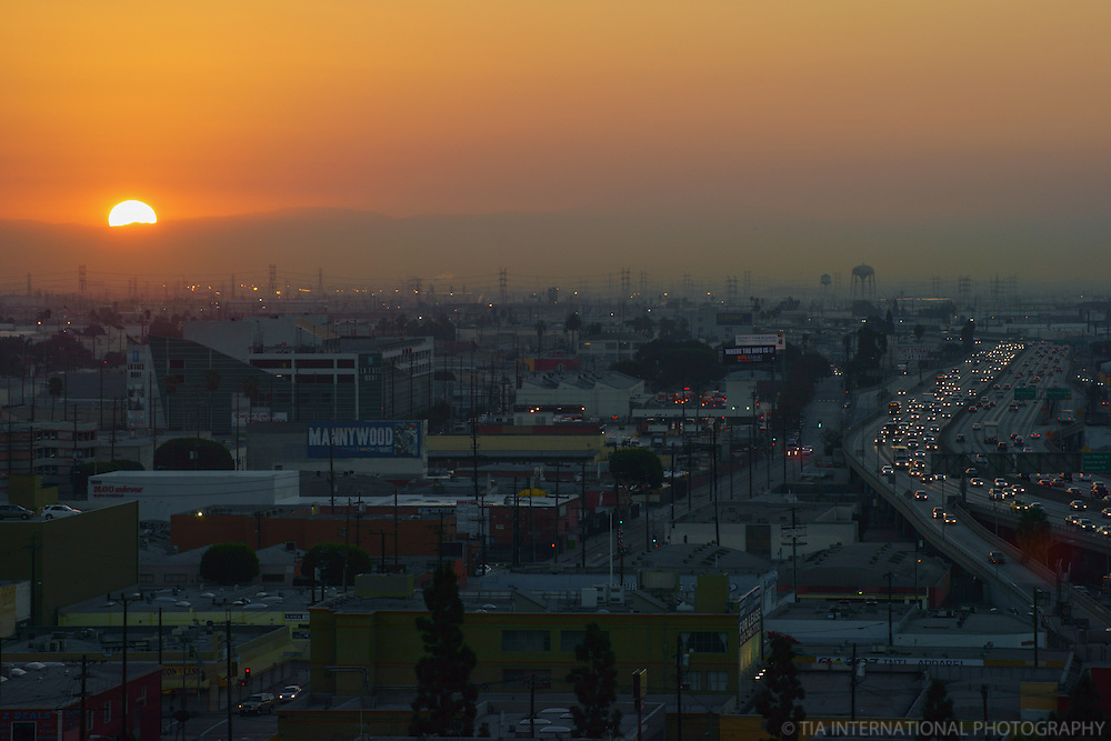 San Bernardino Freeway & East LA @ Sunrise