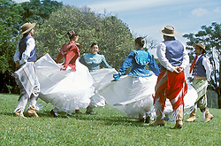 Rio Grande do Sul, Brasil.Ano 2004.Grupo folclorico gaucho./ Gaucho folk group.Foto ©Adri Felden/Argosfoto