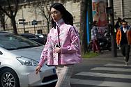 Pink Silk Kimono Jacket Outside Miu Miu FW2017 2