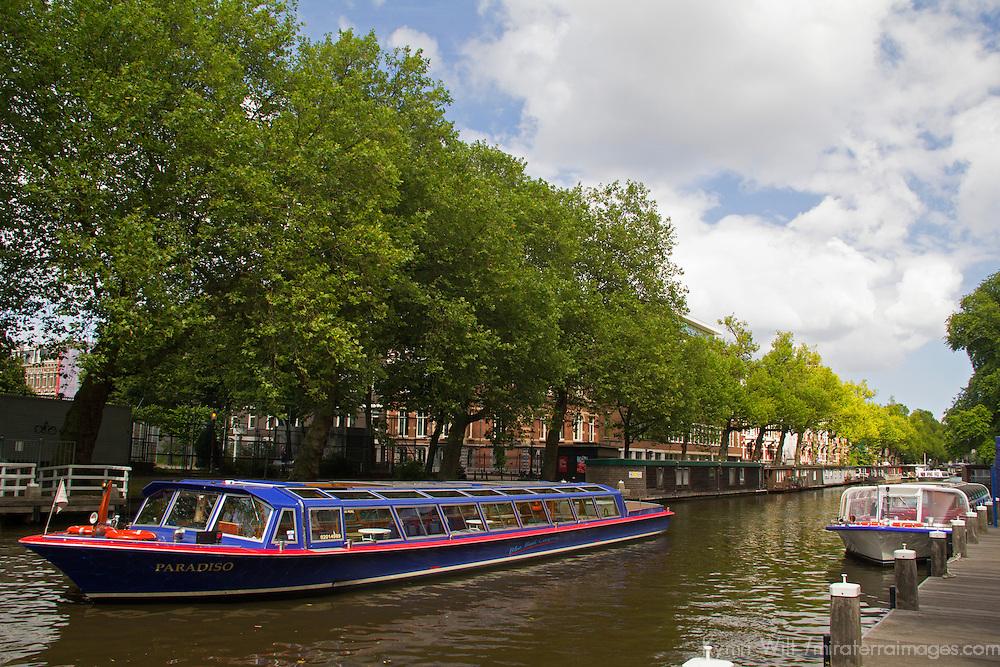 Europe, Netherlands, Amsterdam. Canal Cruise.