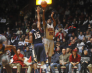 "Ole Miss guard Nick Williams (20) shoots at the C.M. ""Tad"" Smith Coliseum on Friday, November 26, 2010. Ole Miss won 84-71."