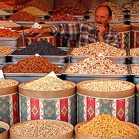 Turkish nuts seller in Ankara's market