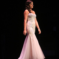 Hannah Marshall competes in the evening gown portion during the 66th North Carolina Azalea Festival Scholarship Pageant at Saturday March 8, 2014 at Kenan Auditorium in Wilmington, N.C. (Jason A. Frizzelle)