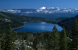 Photographed from the west end of Donner Lake, facing toward the town of Truckee, CA.