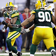 Green Bay Packers' Nick Collins intercepted a Pittsburgh Steelers' Ben Roethlisberger and returned for a touchdown in the 1st quarter. .The Green Bay Packers played the Pittsburgh Steelers in Super Bowl XLV,  Sunday February 6, 2011 in Cowboys Stadium. Steve Apps-State Journal.