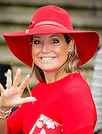 """AMSTERDAM - Queen Maxima attends the celebration of forty years on Tuesday morning, October 14 """"viering van veertig jaar Blijf van m'n lijf """" . During a symposium in Amsterdam, she launches the app Ican that women after a situation of domestic violence helps repair and build self-confidence. COPYRIGHT ROBIN UTRECHT"""