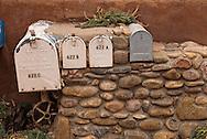 Santa Fe, New Mexico, Canyon Road, mail boxes