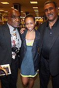 "l to Thomas Newkirk, Mykel Mairne and Michael Mairne at the reading of ' Letters from Black America "" A Dramatic Reading with Editor Pamela Newkirk and actors Ruby Dee and Anthony Chisholm held at Barnes & Noble at 82nd Street on July 15, 2009 in New York City"