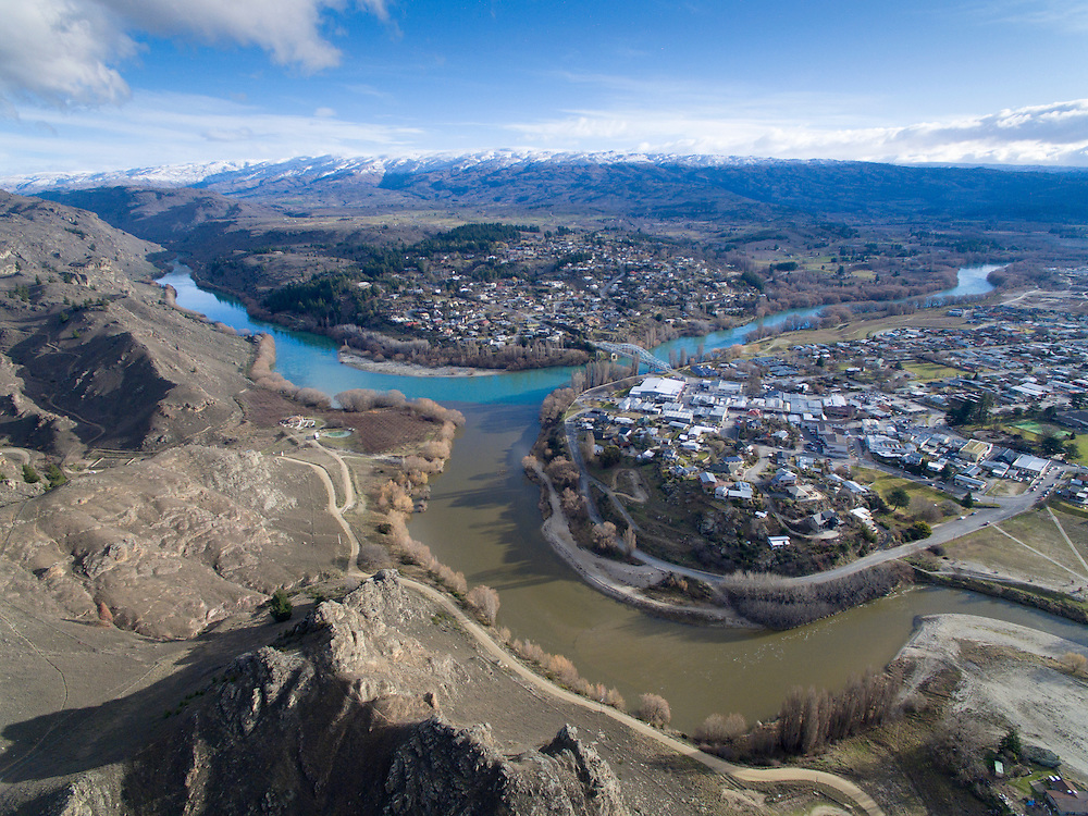 Alexandra and the Clutha River, Central Otago