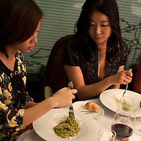 BEIJING, DECEMBER-15 :  Attendees of  Sara Jane Ho's etiquette class struggle to turn their fork gracefully while eating pasta.  In 2013 the 27- year -old Harvard Business School graduate will start  Institute Sarita, a boutique finishing school offering courses in Mandarin for high prices . Ho plans  to teach affluent Chinese the ''importance of being finished'' . Ho learnt her skills at Institut Villa Pierrefeu, Switzerland's last traditional finishing school, where a six-week course covering skills including flower arranging, hostessing and table-setting costs around $20,000.