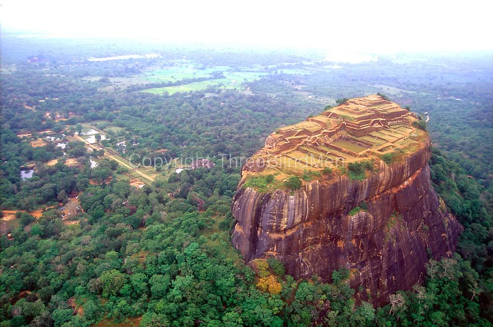 Aerial view of Sigiriya