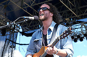 July 11, 2003; Lewisburg, WV, USA;  Singer MICHAEL GLABICKI of Rusted Root performing at The 2003 Mid-Atlantic Music Experience.