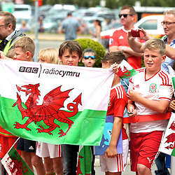160604 Wales Cardiff Airport Send-off HANDOUT