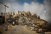 One of the entries to the settlement Har Homa. Har Homa is located south of Jerusalem over the 1948 border known as the green line. Image © Angelos Giotopoulos/Falcon Photo Agency