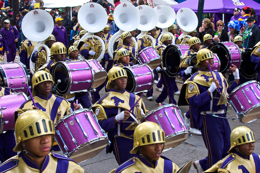St. Augustine Marching Band, Mardi Gras Parade, New Orleans, La