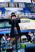 "Magician Steve Trash performs at ""Keep New York City Beautiful!"" in Times Square on April 14, 2011. VIP's included Miss America 2011 Teresa Scanlan and John J. Doherty New York City Sanitation Commissioner. The event coincided with National Volunteer Week."