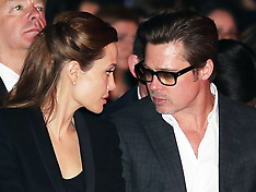 JUN 12 2014 Brad Pitt and Angelina Jolie at Sexual Violence summit