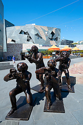 Sculpture outside Federation Square in Melbourne Australia