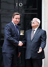 SEP 11 2013 David Cameron with President Abbas in Downing St