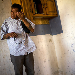 Antonio Guajardo a friend of Sergio Adrian Hernandez Guereca, reacts at Sergio's mother's house on June 8, 2010. Sergio Adrian Hernandez Guereca was killed yesterday by a Border Patrol agent.