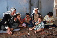 Bakka Refugee Camp, Jordan --- The family of a petty merchant from Jericho has relocated to the Bakka Refugee Camp in Jordan. --- Image  © Owen Franken