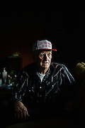 10162247A DYESS, Ark. - Aug. 11, 2014 - J.E. Huff, 82, of Dyess, Ark., moved to Dyess at the age of three and the following year befriended Johnny Cash. Huff remained close with Cash till his death. CREDIT William DeShazer for the New York Times