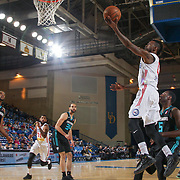 Delaware 87ers Guard RUSS SMITH (0) drives towards the basket as Greensboro Swarm Guard RASHEED SULAIMON (0) defends in the first half of an NBA D-league regular season game between the Delaware 87ers and the Greensboro Swarm (Charlotte Hornets) Wednesday, March 29, 2017, at The Bob Carpenter Sports Convocation Center in Newark, DEL