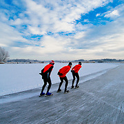 Skating the 'Blokzijler Merentocht', famous in The Netherlands.