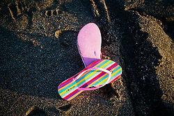 Flip flop on Echo Beach, Bali, Indonesia, Southeast Asia