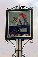 Pub Signs, The Sawyers Arms, Hawkhurst, Kent, Britain