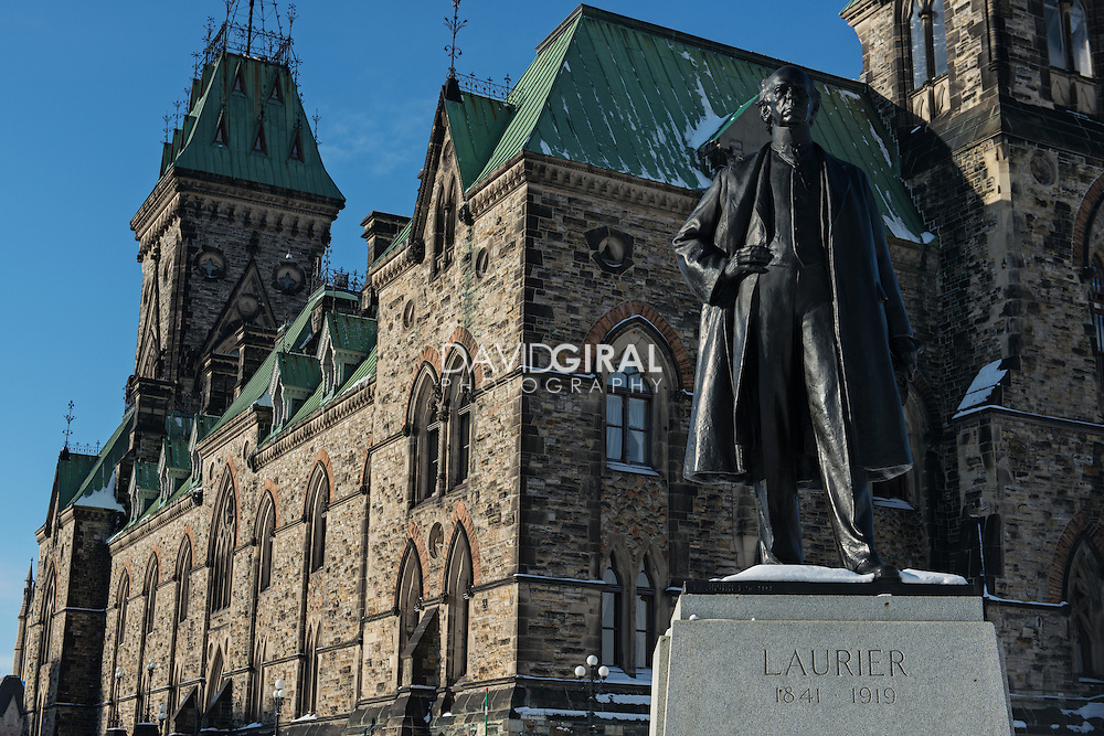 Detail of Laurier Scuplture (by Joseph-Émile Brunet - 1922) in front of East Bloack - Parliament Hill Ottawa