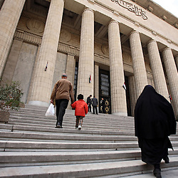 Families enter the High Court in Cairo, Eqypt on March 5, 2008. This is where many family court cases are often heard. Recently in the Muslim world, the reputation of Shariah law has undergone an extraordinary revival.