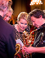 BRUSSEL - King Philippe and Queen Mathilde offer a fall concert at the Palace in Brussels. This year wishes to encourage initiatives that build bridges between education and entrepreneurship. Particular attention the King and Queen COPYRIGHT ROBIN UTRECHT