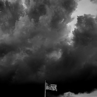 Flag and Clouds