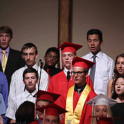 Members of the Upper School Choir performs during commencement exercise Friday, May 29, 2015, at Glasgow Church in Bear, Delaware.