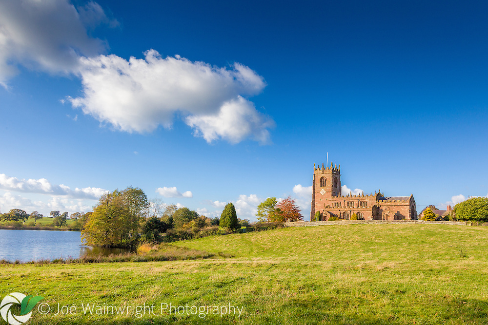 Located next to Big Mere - which dates back to the last ice age - St. Michael's Church, in the south Cheshire village of Marbury, dates from the 15th century.
