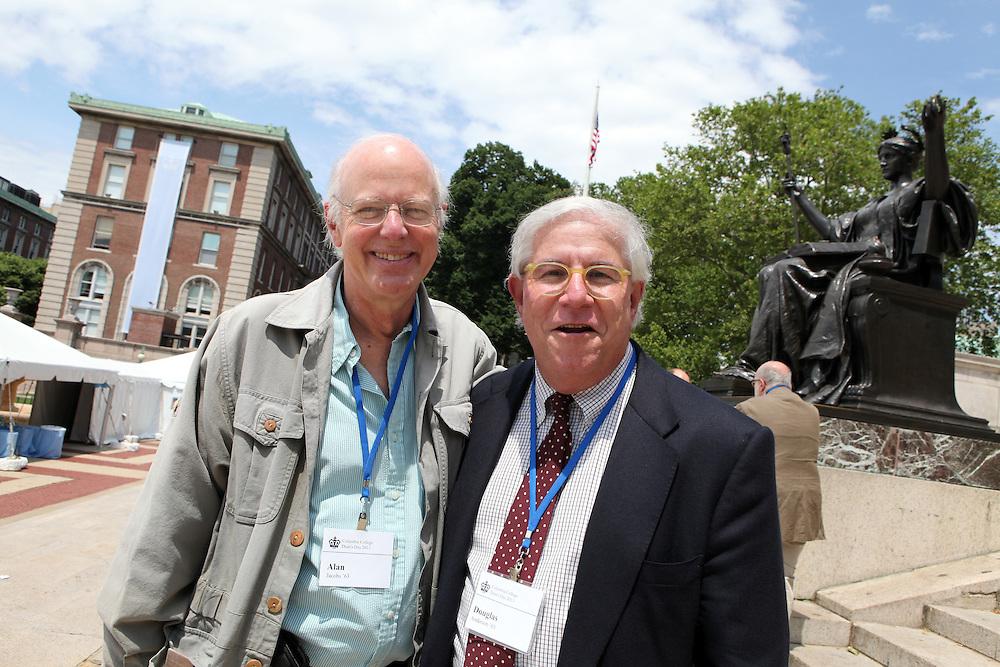Alan Jacobs '63 (left).Doug Anderson '63.