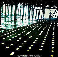 Beneath the Santa Monica Pier, June 27,  2012.