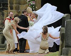 JUNE 22 2013 The wedding of Lady Melissa Percy and  Thomas van Straubenzee