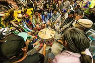 Gathering of Nations Pow Wow, Navajo drum group Callin Eagle, Albuquerque, New Mexico