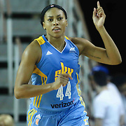 Chicago Sky Forward BETNIJAH LANEY (44) gestures during in the first period of a WNBA preseason basketball game between the Chicago Sky and the New York Liberty Sunday, May. 01, 2016 at The Bob Carpenter Sports Convocation Center in Newark, DEL