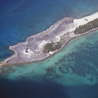 Aerial view of the Out Islands of the Bahamas