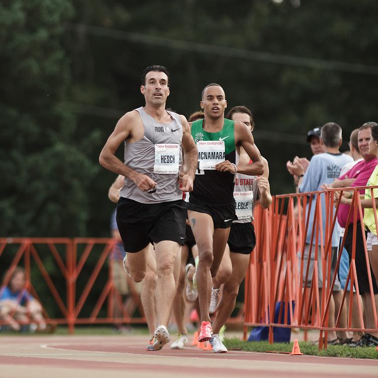 Falmouth Road Race: Falmouth Elite Mile race, Christian Hesch rabbits